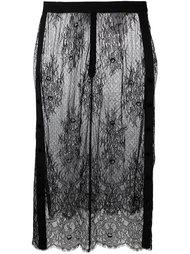 юбка с кружевной панелью Steve J & Yoni P