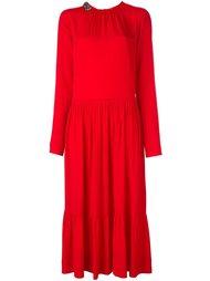 платье миди с декорированным воротником Nº21