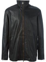 кожаная куртка на молнии Diesel Black Gold