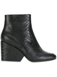 ботинки с эффектом змеиной кожи  Robert Clergerie