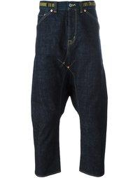 укороченные джинсы с заниженным шаговым швом Ganryu Comme Des Garcons