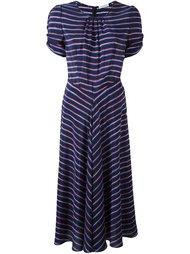платье в полоску со складками Altuzarra