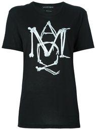 футболка с принтом логотипа Alexander McQueen