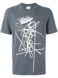 футболка с абстрактным принтом  Maison Margiela
