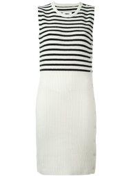 трикотажное платье в полоску Mm6 Maison Margiela