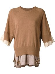 свитер с рукавами три четверти Muveil