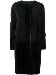 пальто на молнии с панельным дизайном Lanvin