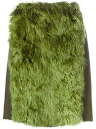 юбка с панелью из искусственного меха Maison Margiela