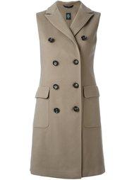 двубортное пальто без рукавов Eleventy