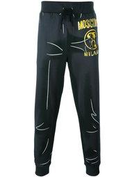 спортивные брюки с принтом логотипа Moschino
