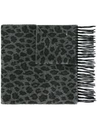 шарф с леопардовым принтом Saint Laurent