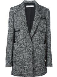 однобортное пальто с узором шеврон Philosophy Di Lorenzo Serafini