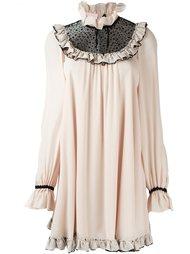 короткое платье с рюшами  Giamba