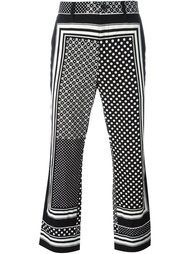 брюки с комбинированным принтом Sacai