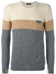 свитер колор-блок  Roberto Collina