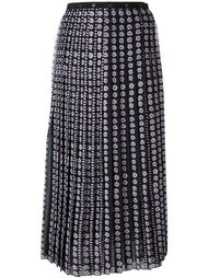 плиссированная блузка с цветочным принтом Giamba