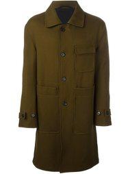 пальто с накладными карманами  Ann Demeulemeester