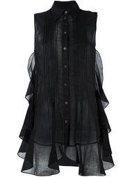 прозрачная блузка без рукавов Mm6 Maison Margiela