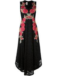кружевное платье с цветочной вышивкой Antonio Marras
