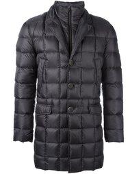 стеганое пальто-пуховик с двойным воротником Fay