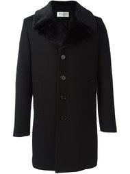 пальто с меховым воротником Saint Laurent