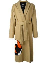 однобортное пальто 'Cat' MSGM