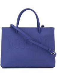 сумка-тоут с тиснением логотипа Moschino