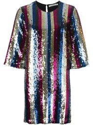полосатое платье с пайетками Amen