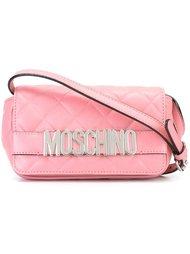 стеганая сумка через плечо с логотипом Moschino