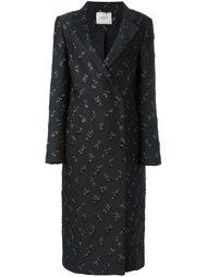пальто с вышивкой роз Lanvin