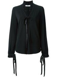 блузка с рюшами на воротнике Givenchy