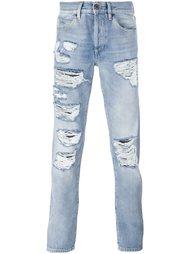 джинсы с рваной отделкой Off-White