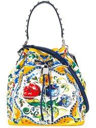 сумка-мешок с принтом Majolica Dolce & Gabbana