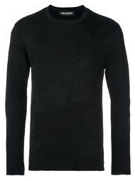 свитер с камуфляжным принтом  Neil Barrett