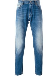 джинсы с потертой отделкой MSGM