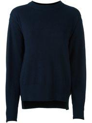 свитер с круглым вырезом   Sacai