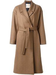 пальто с поясом Erika Cavallini