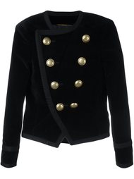 укороченный бархатный пиджак 'Spencer' Saint Laurent