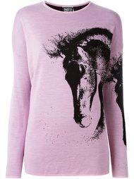 свитер с изображением лошади  Fausto Puglisi