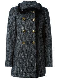 твидовое пальто А-образного силуэта Dolce & Gabbana