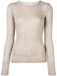 футболка плотной вязки в рубчик T By Alexander Wang