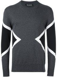 свитер колор-блок  Neil Barrett