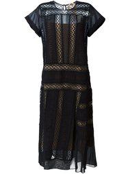 кружевное платье миди Nº21