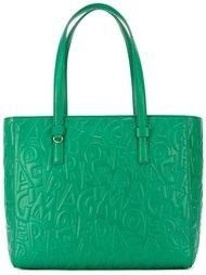 сумка-тоут с тисненым логотипом  Salvatore Ferragamo