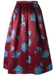 юбка с цветочным принтом  Rochas