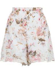 шорты 'Eden' с цветочной вышивкой  Zimmermann