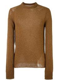 свитер с рваными деталями Maison Margiela