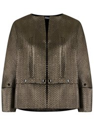 metallic jacket Reinaldo Lourenço