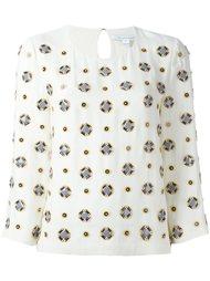 блузка с рукавами три четверти  Diane Von Furstenberg