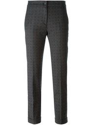 укороченные брюки с мелким узором Etro